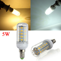 E14 5W 450LM White/Warm White 5730 SMD 36 LED Corn Light Bulb 110V