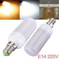 E14 5W 48 SMD 5730 AC 220V LED Lampa med Frosted Cover