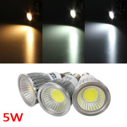 E14 5W 500-550LM Dimmable COB LED Spot Lamp Light Bulbs AC 220V