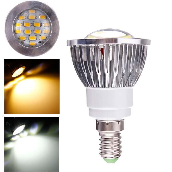 E14 6W AC 220V 16 SMD 5630 Vit / Varmvit LED Spotlight LED-lampor