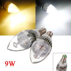 E14 9W Vit / Varmvit 3 LED Ljuskrona Candle Ljus Lampa 85-265V