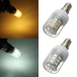 E14 LED Bulb 5W 24 SMD 5730 Warm White/White AC 220V Corn Light