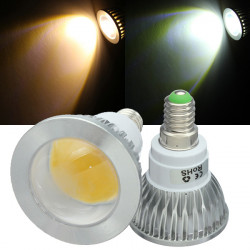 E14 LED Bulbs 3W COB AC 85-265V Warm White/White Spot Light