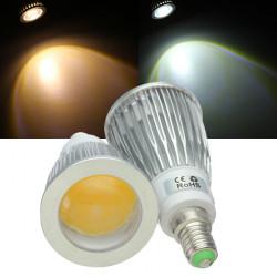 E14 LED Leuchtmittel 7W COB AC 85 265V warmes Weiß / Weiß Spot Licht