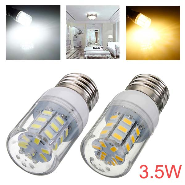 E26 3.5W 420LM 27 SMD 5730 AC 220V White/Warm White LED Corn Bulbs LED Light Bulbs