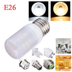 E26 3.5W White/Warm White 380LM 5730SMD 24 LED Corn Light Bulbs AC110V
