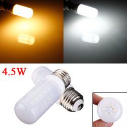 E26 4.5W Vit / Varmvit 5730 SMD LED Ivory Ljus Corn Lampa 110V