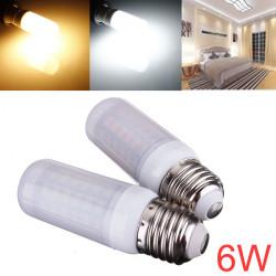E26 6W 880LM SMD 5730 AC 220V LED Corn Lampor med Frostade Cover
