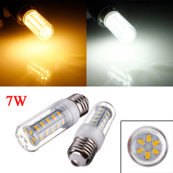 E26 7W 650LM White/Warm White 5730 SMD 36 LED Corn Light Bulb 110V