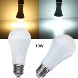 E27 10W SMD 3024 Dimmable Warm White/White LED Light Bulb AC 200-260V