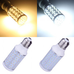 E27 10W Varmvit / Vit 120 SMD 3014 220-240V LED Corn Light Bulb