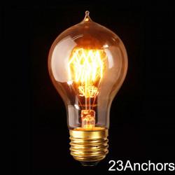 E27 110V/220V 40W A19 23 Anchors Edison Filament Incandescent Bulb