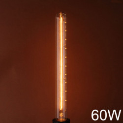 E27 110V / 220V 60W T30 300MM Vintage Edison Filament Glødepære