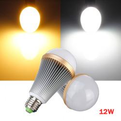 E27 12W Varm / Pure Vit 12 LED Globe Glödlampa Spotlight Lampa AC 110-240V