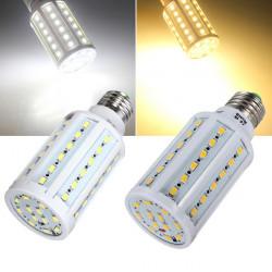 E27 12W Warm White/White 60 SMD 5630 SinglyFire LED Corn Bulb 220V