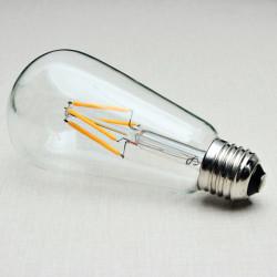 E27 140mm ST64 4W Retro LED Filament Edison Lamp Lys Pære 220V