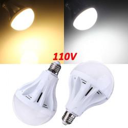 E27 15W 55 SMD 2835 Pure Vit / Varmvit LED Globe Glödlampa 110V