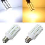 E27 15W 60 SMD 5630 White/Warm White LED Corn Light Bulbs AC 110V LED Light Bulbs