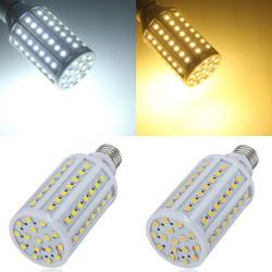 E27 15W 86 SMD 5050 Vit / Varmvit LED Lampa AC 220V