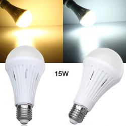 E27 15W SMD 3024 Dimmable Warm White/White LED Light Bulb AC 200-260V
