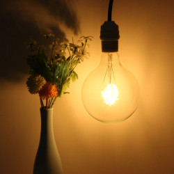 E27 175mm G125 4W Retro LED Filament Edison Lamp Light Bulb 220V
