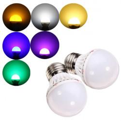 E27 1W SMD 2835 Varmvit / Vit Färgglada LED-lampa 220V