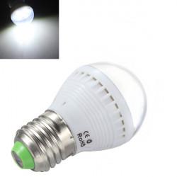 E27 2,5 W Pure Hvid 7 SMD 5050 LED Lys Ball Pære 110-240V