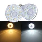E27 2W 23 SMD 3528 Pure / Varm Hvid PIR Motion Sensor LED Lys Lampe Pære LED-pærer