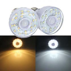 E27 2W 23 SMD 3528 Pure / Varm Hvid PIR Motion Sensor LED Lys Lampe Pære