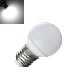 E27 2W 85-265V Pure Vit LED-ljus Energispar Ball Lampor