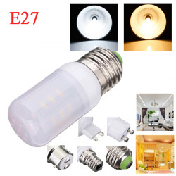E27 3.5W White/Warm White 380LM 5730SMD 24 LED Corn Light Bulbs AC110V