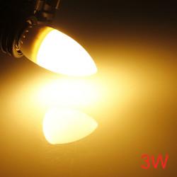 E27 3W 10 SMD 2835 AC 220-240V Hvid / Varm Hvid LED Candle Lys Pære