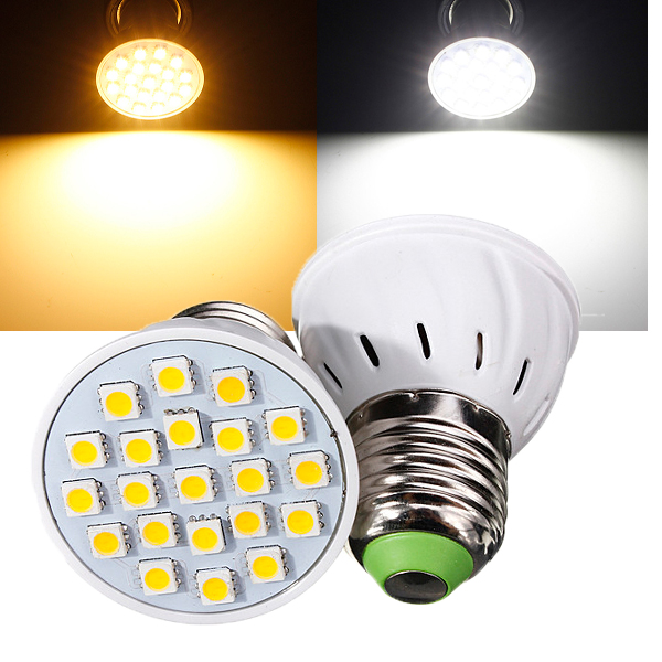 E27 3W 21 LED 5050 SMD reines / warmes weißes Licht Birnen Lampe 110V LED Lampen