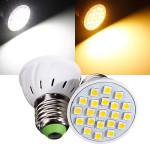 E27 3W 220V 21 SMD 5050 White/Warm White LED Spot Light Bulbs LED Light Bulbs