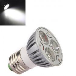 E27 3W 3-LED 6500K 240-Lumen Hvid Lys Spotlampe Pære 110-260V