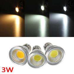 E27 3W 300-330LM Reglerbar COB LED Spotlight Lampa Glödlampor AC 220V