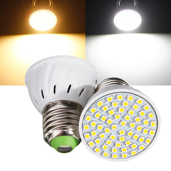 E27 3W 60 LED 3528 SMD Ren / Varmvitt Ljus Glödlampa 110V LED-lampor