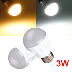 E27 3W 9LED 3014 SMD Globe Bulb Light Lamp White/Warm White 220-240V