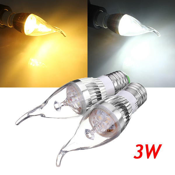 E27 3W dimmbare 300 330LM LED Kronleuchter Kerze Glühlampe 220V LED Lampen