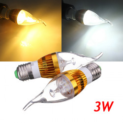 E27 3W Dimmable White/Warm White LED Chandelier Candle Light Bulb 220V