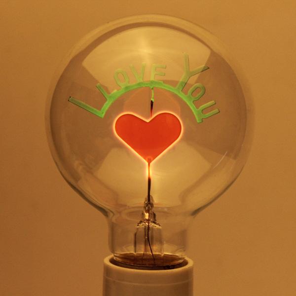 E27 3W Edison Løg Jeg Elsker Dig Shaped Dekorative Lys Pære 220V LED-pærer
