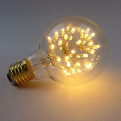 E27 3W LED Bulb Warm White 220V G80 Edison Style Light Bulb