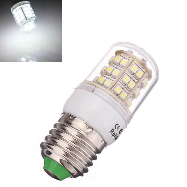 E27 3W Pure Vit 48 SMD 3528 LED Spotlight Lampa 110V LED-lampor