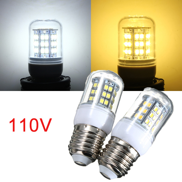 E27 3W Warm White/White 48 LED 2835 SMD Corn Light Bulb Lamp 110V LED Light Bulbs