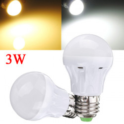 E27 3W Vit / Varmvit 2835 SMD 10LED Glödlampa 110-130V