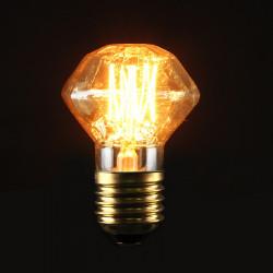 E27 40W Vintage Antique Edison Carbon Filament Clear Glass Bulb 220V