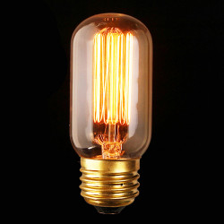 E27 40W Vintage Antique Edison Glødepære Clear Glass 110V