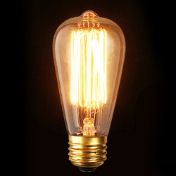 E27 40W Antik Edison Glödlampa ST64 110V