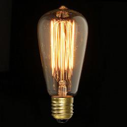E27 40W Vintage Antique Edison Incandescent Bulb ST64 220V