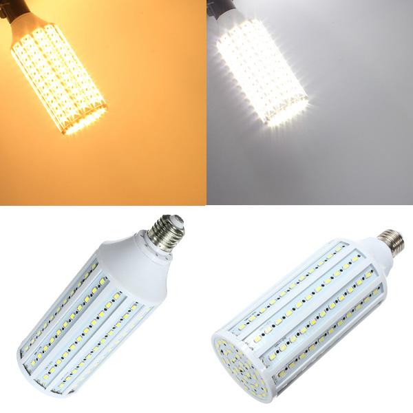 E27 40W Vit / Varmvit 5630 SMD 165 LED 220V LED-lampor